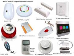 New wireless alarm siren, keypad, pir, wireless smoke detector