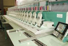 Six needle embroidery machines
