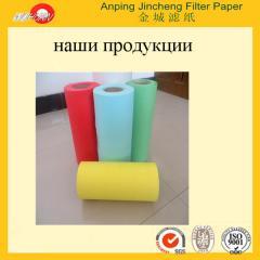 Air filtering paper