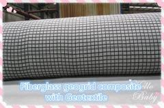 Fiberglass Geogrid Composite with PET/PP Non-Woven