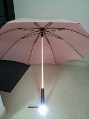 Shaft shine straight umbrella with LED light