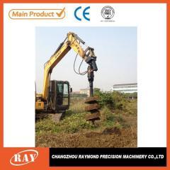 带合金钻头的适用于地热泵源钻孔等成孔作业的螺旋钻机
