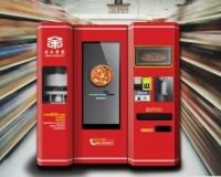 Pizza vending machine, automatically from flour to