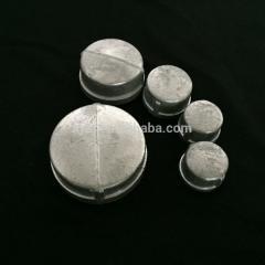Malleable cast iron round cap