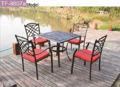 Cast aluminum garden furniture-9807a