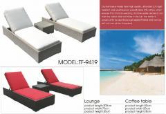 Rattan chaise louner furniture-9449