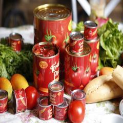 Tin cans for tomato paste