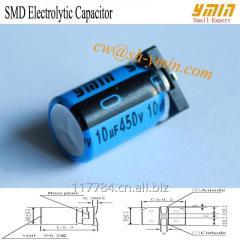 125°C 4000 Hours 450V 10uF SMD Capacitor Lighting