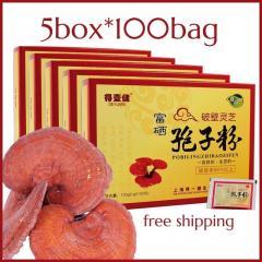 5 box Ganoderma lucidum spore powder/reishi spore