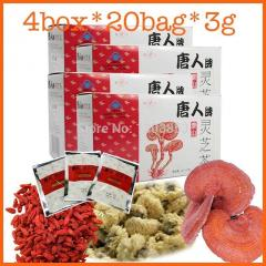 4 box ganoderma tea,herbal tea lyceum chinensis