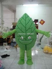 Green plants mascot costumes leaf costumes