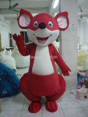High quality kangaroo mascot costumes red and