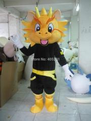 The black suit kind dragon mascot costumes