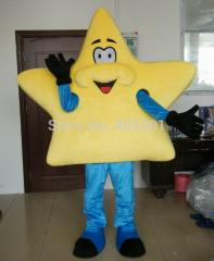Blue arms and pants yellow star mascot costumes