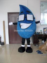 Big eyes dark blue water drop mascot costumes