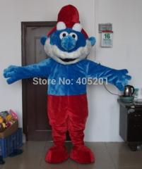 Papa and baby girl mascot costume blue costumes
