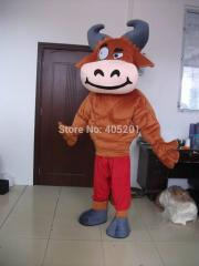 Brown bull mascot costumes hot sale animal cattle
