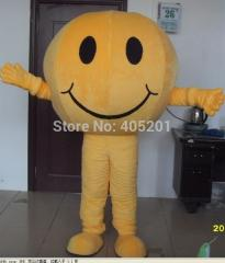 Smile yellow egg round mascot costumse