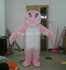 POLYFOAM high quality costume pink dolphin mascot