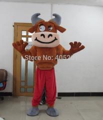 POLYFOAM high quality costume muscle bull mascot