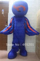 Blue global mascot costume