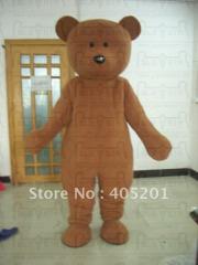 Brown fur teddy mascot costumes teddy bear