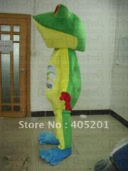Slim frog mascot costume(not include logo) frog
