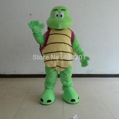 Light green fur high quality turtle mascot