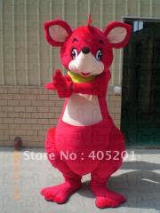 Cute red kangaroo mascot costumes quality foam