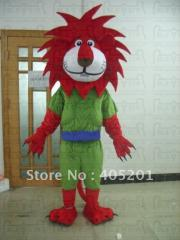 Red hair lion mascot costume lion costumes