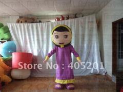 Purple dress arab woman costumes