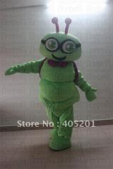 Green bee mascot costumes quality foam head animal