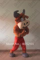Muscle bull mascot costumes character cartoon