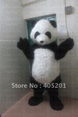 Long fur panda costume panda mascot costume
