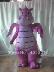Character purple dragon mascot costumes