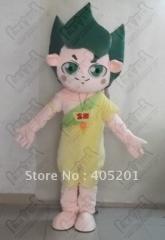 Green hair kids mascot costumes