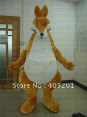 Quality fur kangaroo mascot costumes huge style