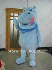 Hot sale light blue hippo mascot costume