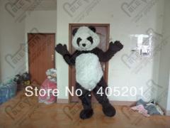 2014 new long fur panda mascot costumes hot sale