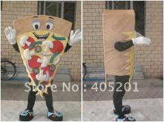 Soft sponge body pizza mascot costume food