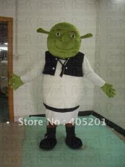 Carvened face shrek mascot costumes monster