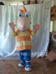 Free shipping Phineas mascot costumes