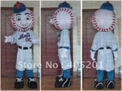 Hand make mr met mascot costumes baseball boy