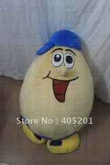 Cute egg mascot costumes foam body