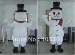Gentle snowman mascot costume Christmas snow man