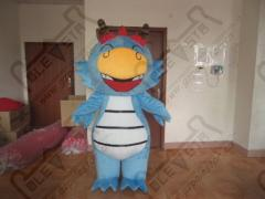 Huge style blue dragon mascot costumes character