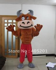 Muscle bull costume bull mascot costume