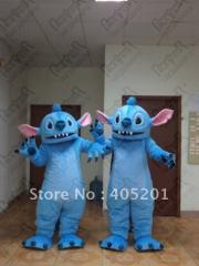 Big ear blue monster mascot costumes cartoon