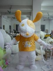 Character bunny mascot costumes stand ear costumes