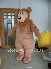 Brown bear costume long fur bear mascot costume